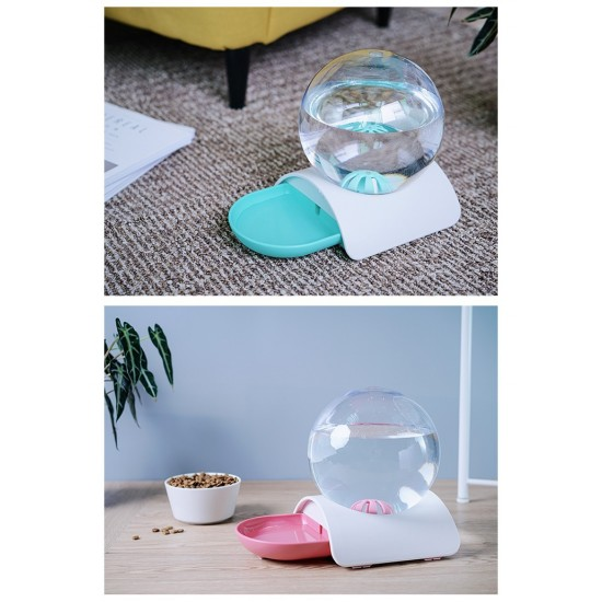 Bubble pet waterer pet automatic waterer without wet mouth