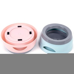 Pet drinking bowl non-slip, splash-proof and non-wet mouth floating water bowl