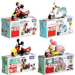 tomy Domeka toy car Mickey Minnie motorcycle Donald Duck alloy car model car decoration ornaments