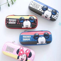 Genuine Disney Mickey Minnie Creative Korean Multi-layer Large Capacity Pencil Case