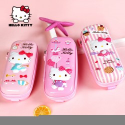 Genuine Hello Kitty Hello Kitty Zipper Creative 3D Stationery Pencil Case