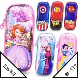 Authentic Disney Snow Princess Spider-Man Captain Iron Man Cartoon Children's Stationery Pencil Case