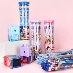 Genuine Disney cartoon log with rubber pencils 30 barrels