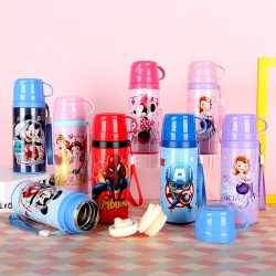 Authentic Disney cartoon kettle with lid vacuum double layer 316 stainless steel vacuum flask
