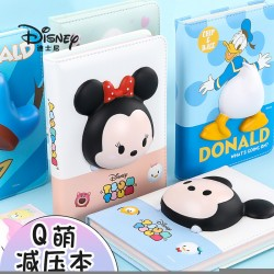 Disney creative stationery decompression notebook cute slow rebound decompression book Q version cartoon decompression hand ledger