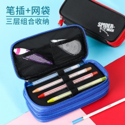 Simple Oxford cloth large capacity stationery pencil case