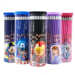 Genuine Disney 50 HB pencils with eraser in a bucket