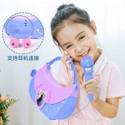 Genuine Disney Fashion Princess Bag Electronic Organ Children's Microphone Baby Music Girl Frozen Toys