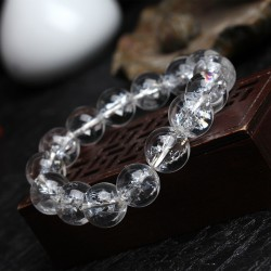 (Male / female) Natural hirazza white crystal bracelet seven rainbow energy crystal