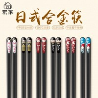 Chopsticks. 24cm. Japanese creative home nail chopsticks set