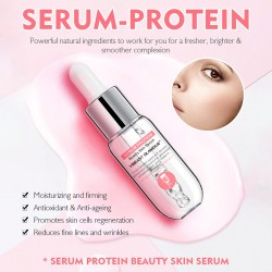 Vibrant Glamour serum protein mysterus face stock solution. Brightening skin color repair