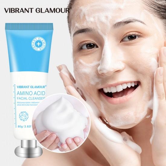 Vibrant Glamour amino acid cleanser. Moisturizing moisture regulates water oil balance